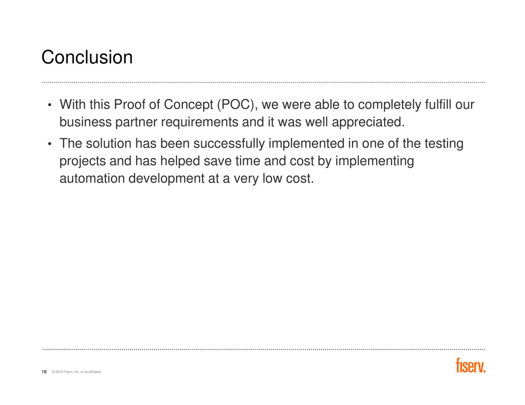 Conclusion • With this Proof of Concept (POC), ...
