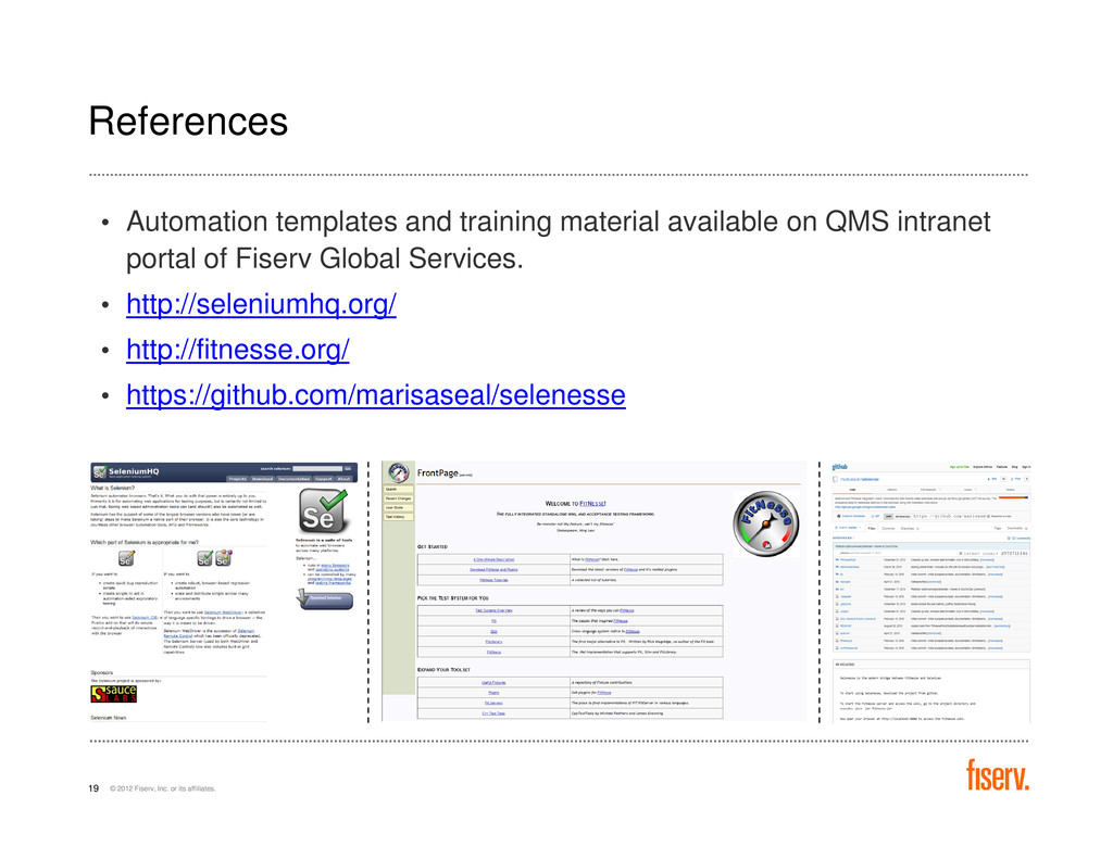 References • Automation templates and training ...