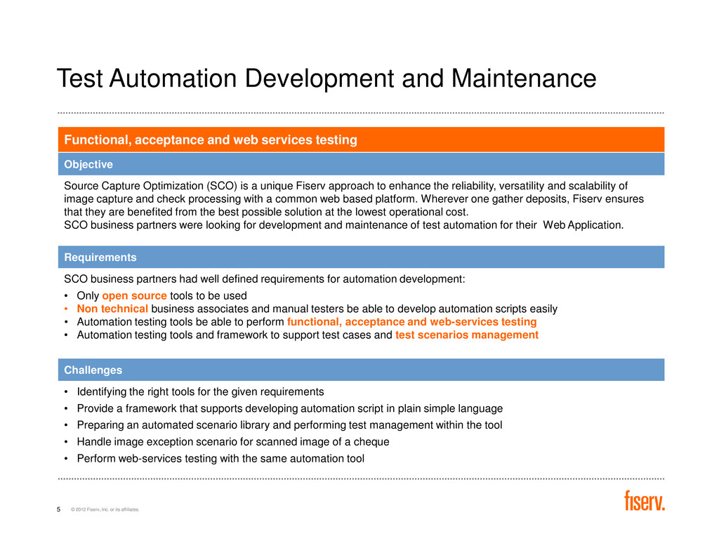 Test Automation Development and Maintenance Fun...