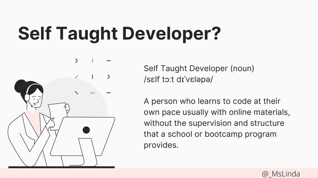 Self Taught Developer? Self Taught Developer (n...