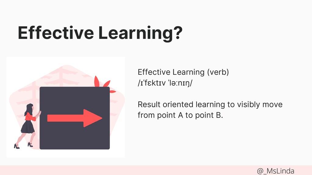Effective Learning (verb) /ɪˈfɛktɪv ˈləːnɪŋ/ Re...
