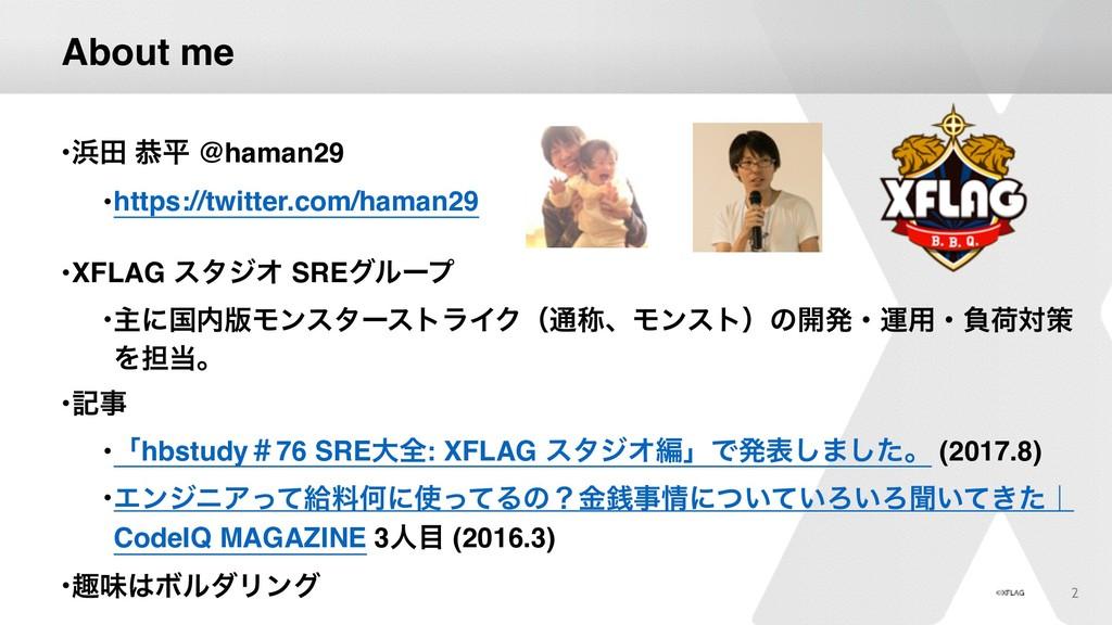 About me •ా ګฏ @haman29 •https://twitter.com/h...
