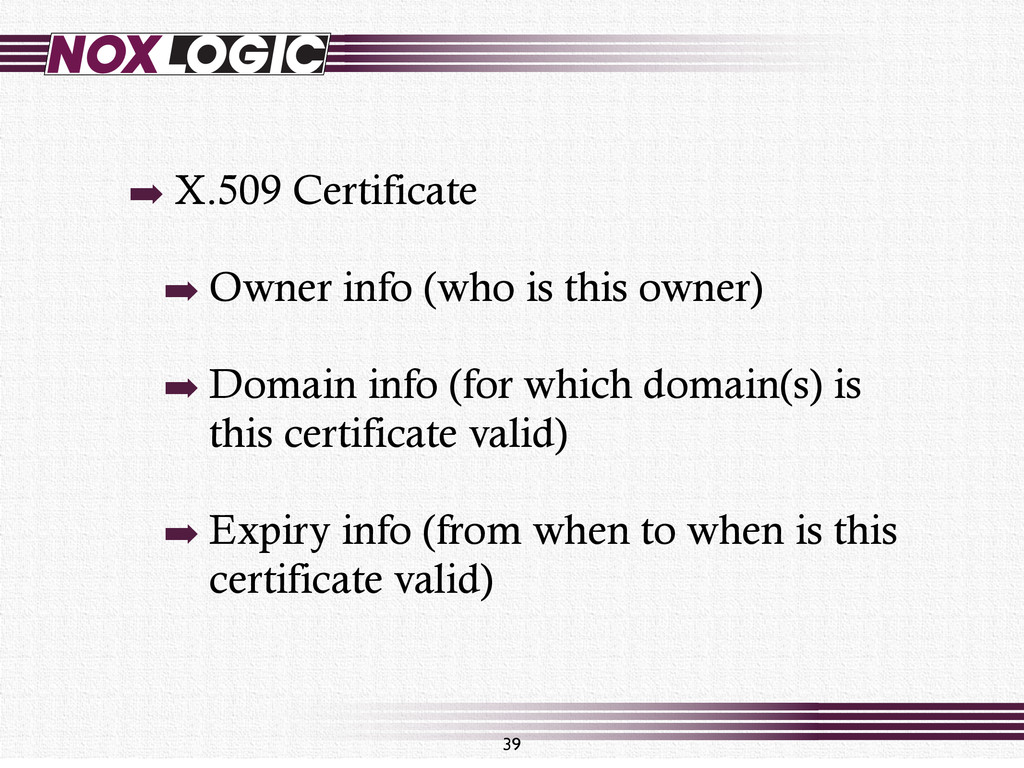39 ➡ X.509 Certificate ➡ Owner info (who is thi...