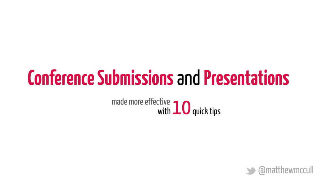 Conference Submissions and Presentations with 1...