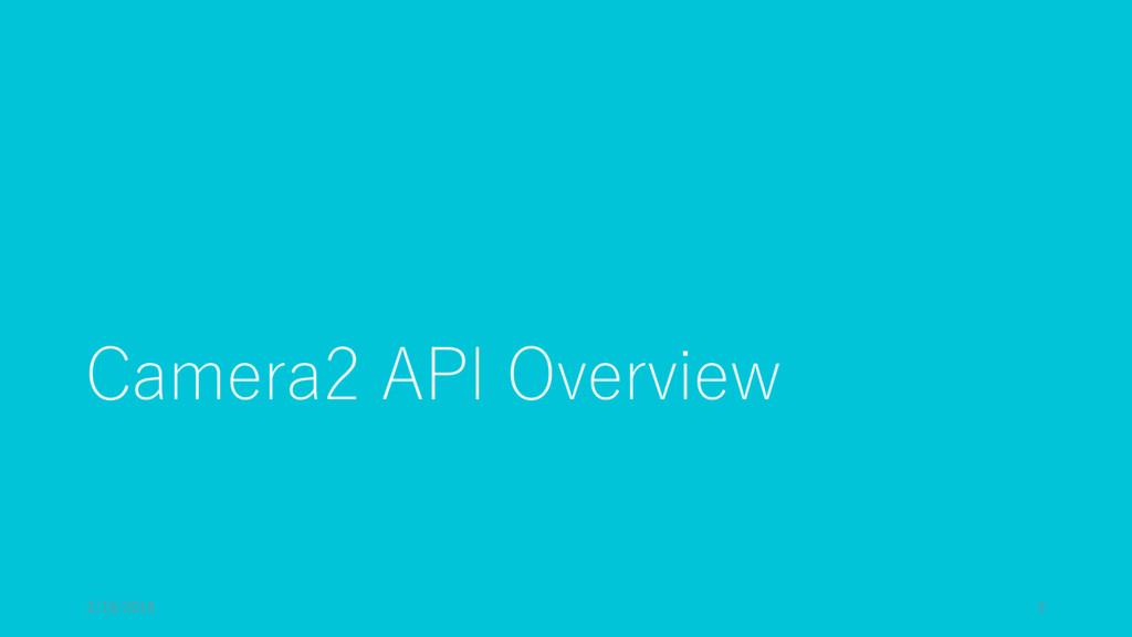 Camera2 API Overview 2/19/2016 2