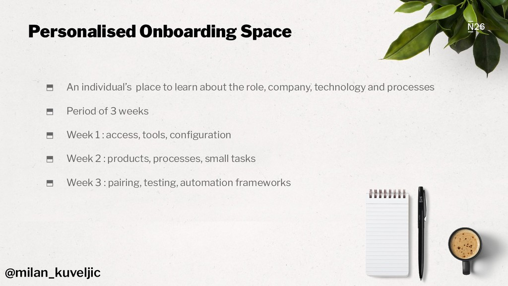 Personalised Onboarding Space ⬒ An individual's...
