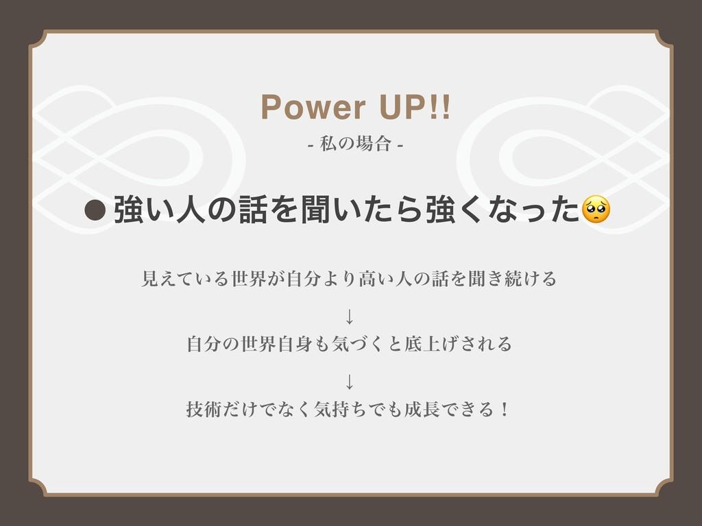 Power UP!! - ࢲͷ߹ - ڧ͍ਓͷΛฉ͍ͨΒڧ͘ͳͬͨ ݟ͍͑ͯΔੈք͕ࣗΑ...