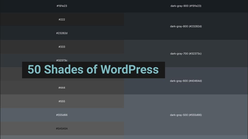 50 Shades of WordPress
