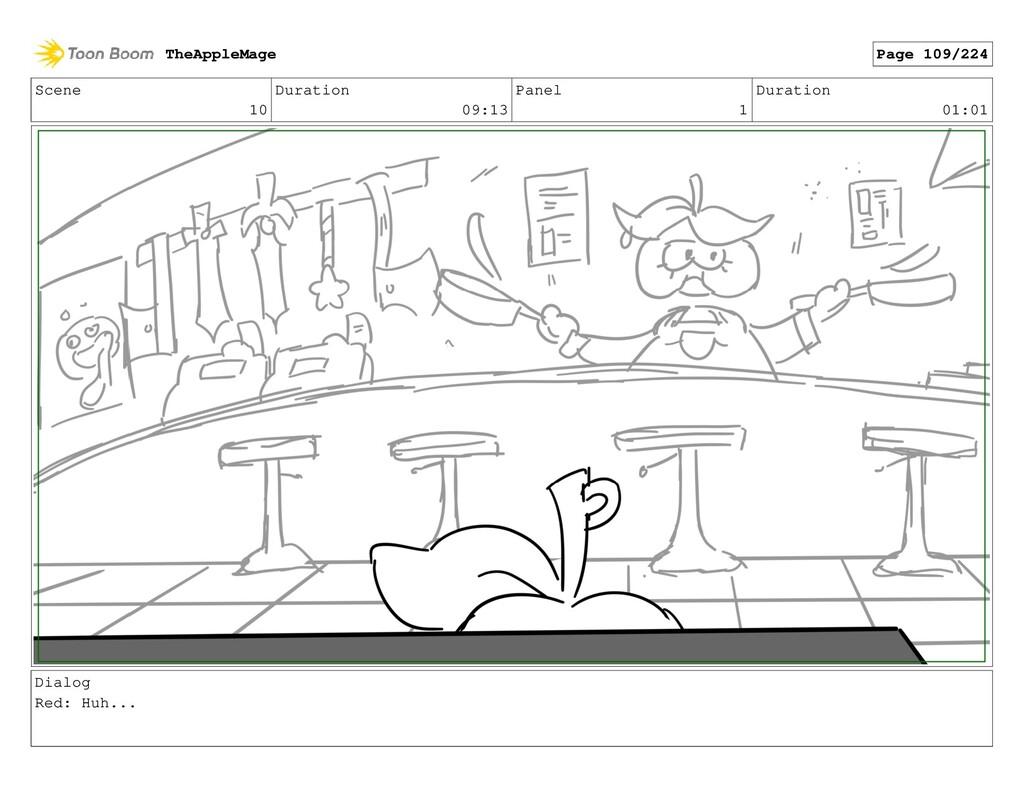 Scene 10 Duration 09:13 Panel 1 Duration 01:01 ...