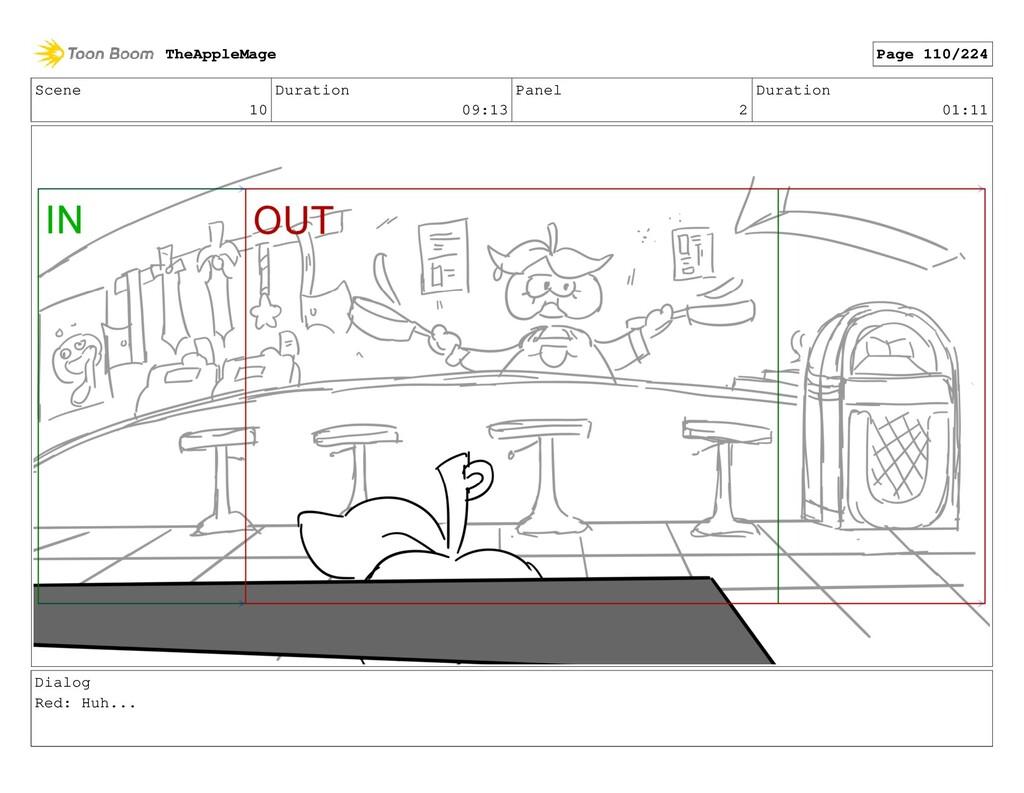 Scene 10 Duration 09:13 Panel 2 Duration 01:11 ...