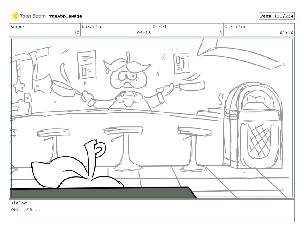 Scene 10 Duration 09:13 Panel 3 Duration 01:10 ...