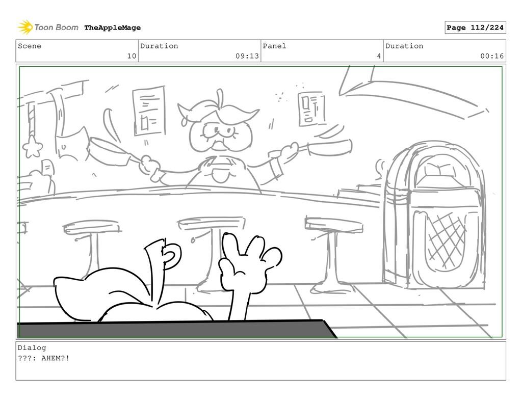 Scene 10 Duration 09:13 Panel 4 Duration 00:16 ...