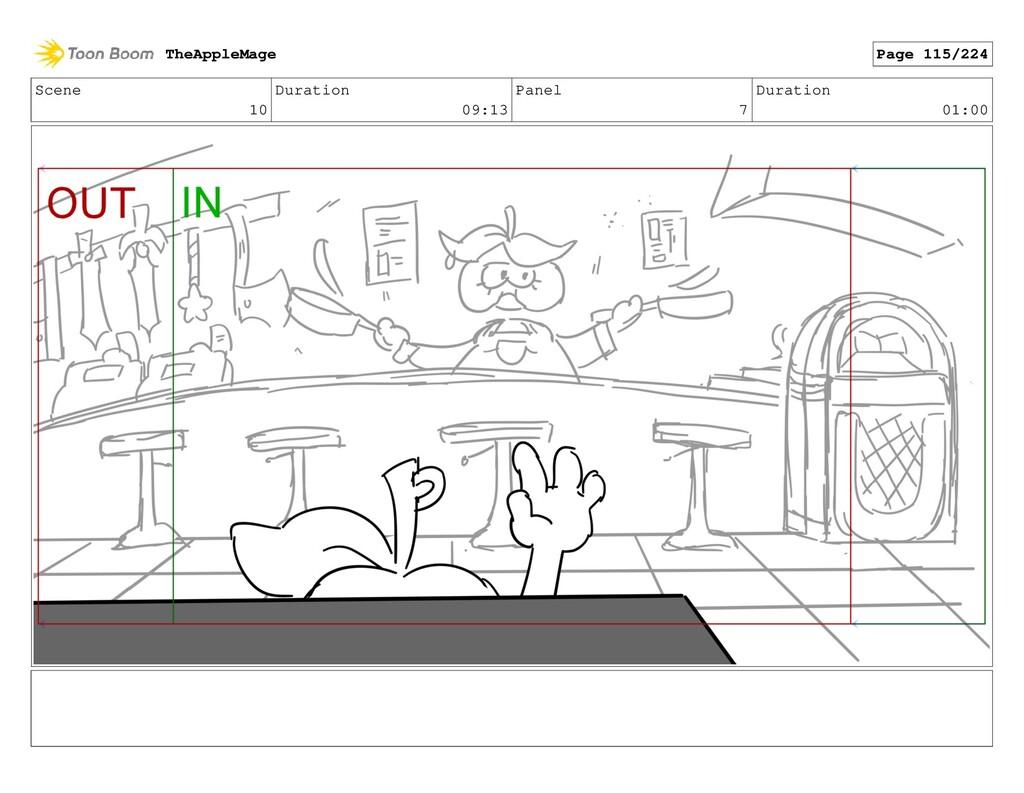 Scene 10 Duration 09:13 Panel 7 Duration 01:00 ...