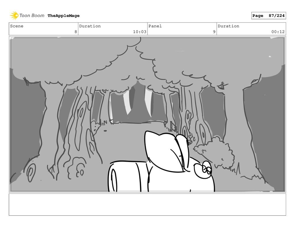 Scene 8 Duration 10:03 Panel 9 Duration 00:12 T...