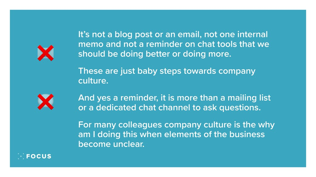 It's not a blog post or an email, not one inter...