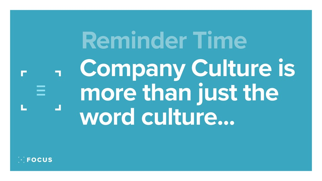 Company Culture is more than just the word cult...