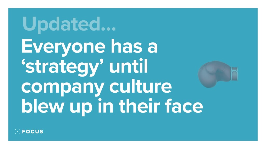 Everyone has a 'strategy' until company culture...