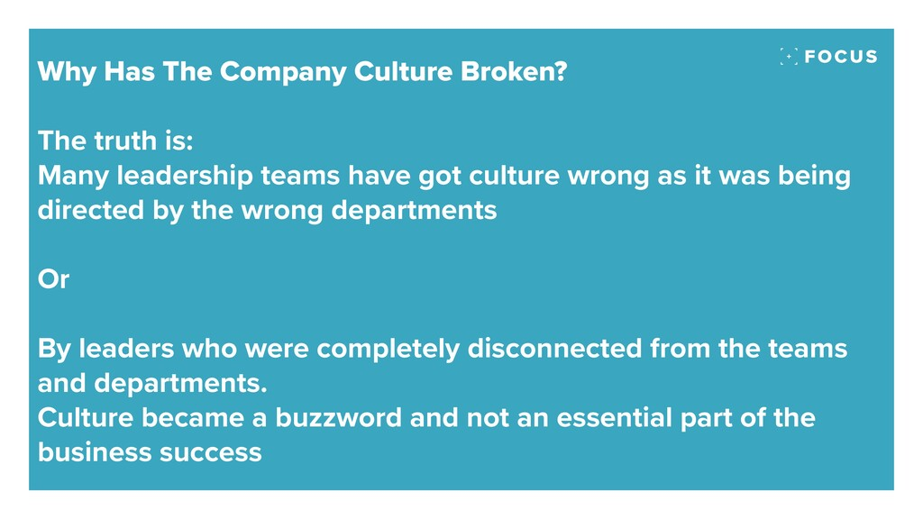 Why Has The Company Culture Broken? The truth i...