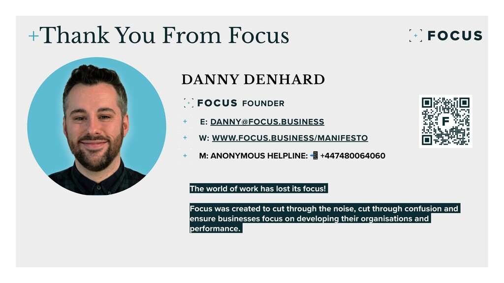 55 +Thank You From Focus DANNY DENHARD The worl...