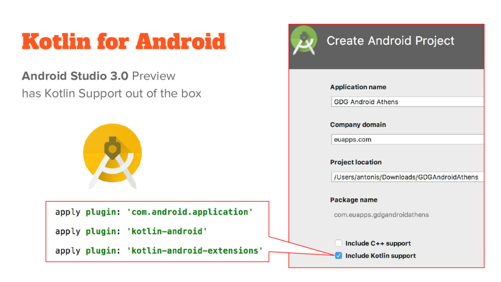 Kotlin for Android Android Studio 3.0 Preview h...