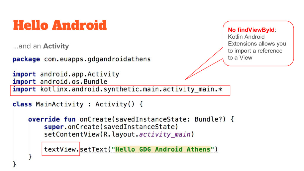 Hello Android ...and an Activity No findViewByI...
