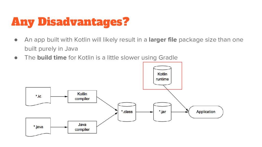 Any Disadvantages? ● An app built with Kotlin w...