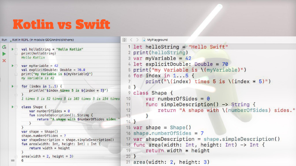 Kotlin vs Swift
