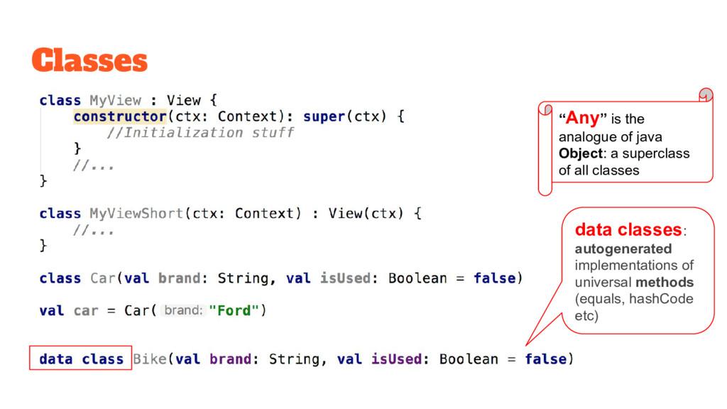 Classes data classes: autogenerated implementat...