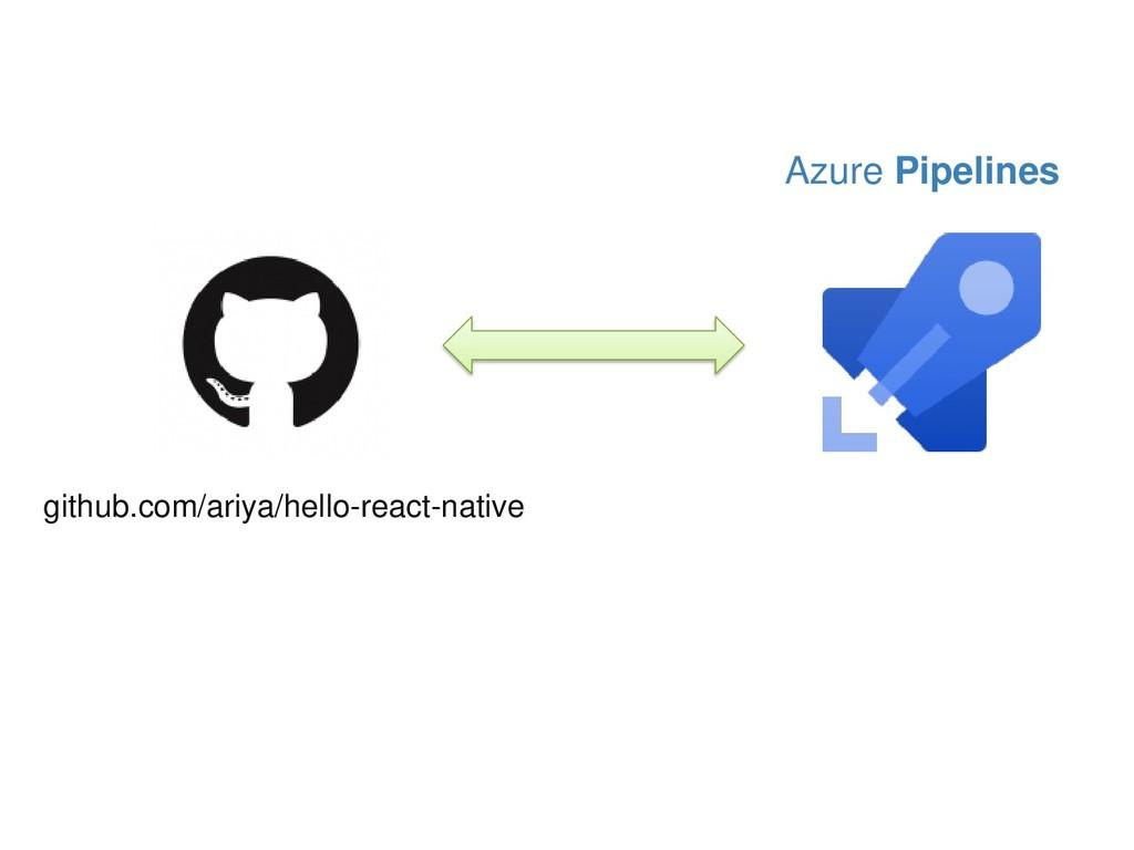 Azure Pipelines github.com/ariya/hello-react-na...