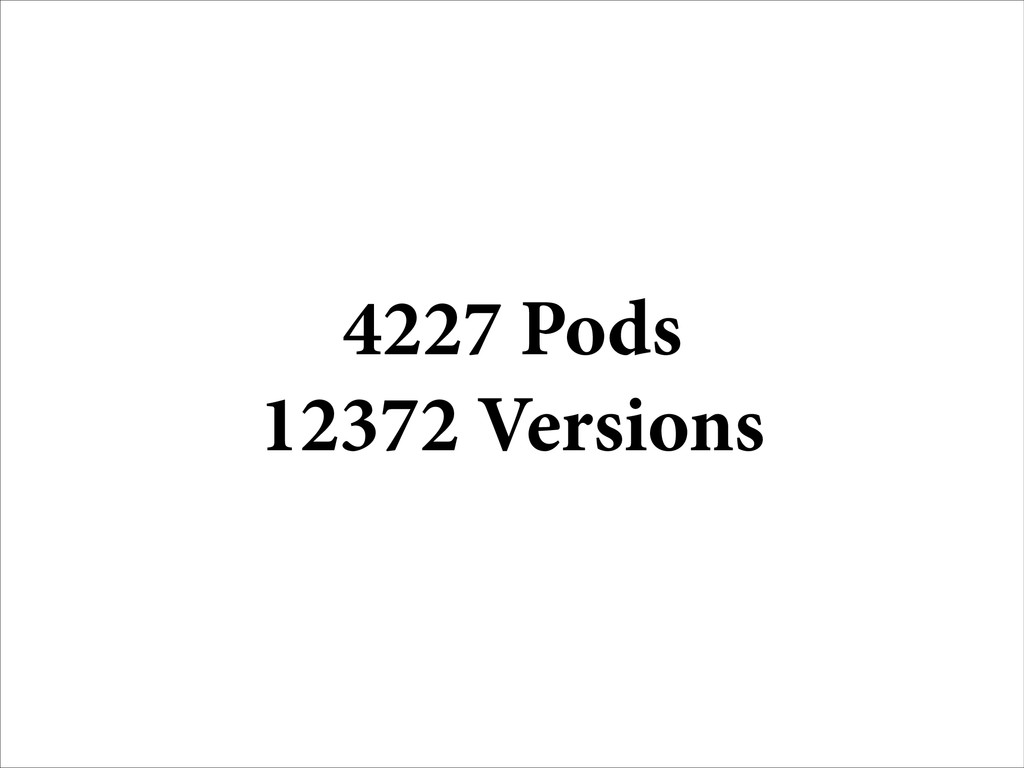 4227 Pods 12372 Versions