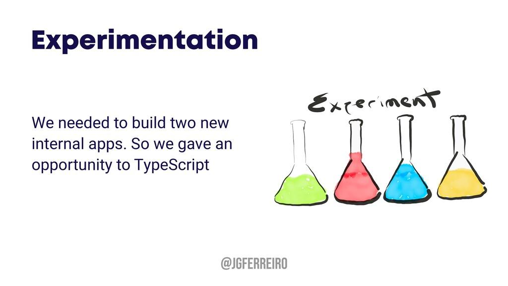 @JGFERREIRO We needed to build two new internal...
