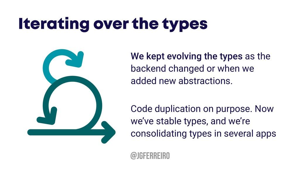 @JGFERREIRO We kept evolving the types as the b...