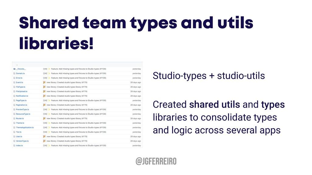 @JGFERREIRO Studio-types + studio-utils Created...