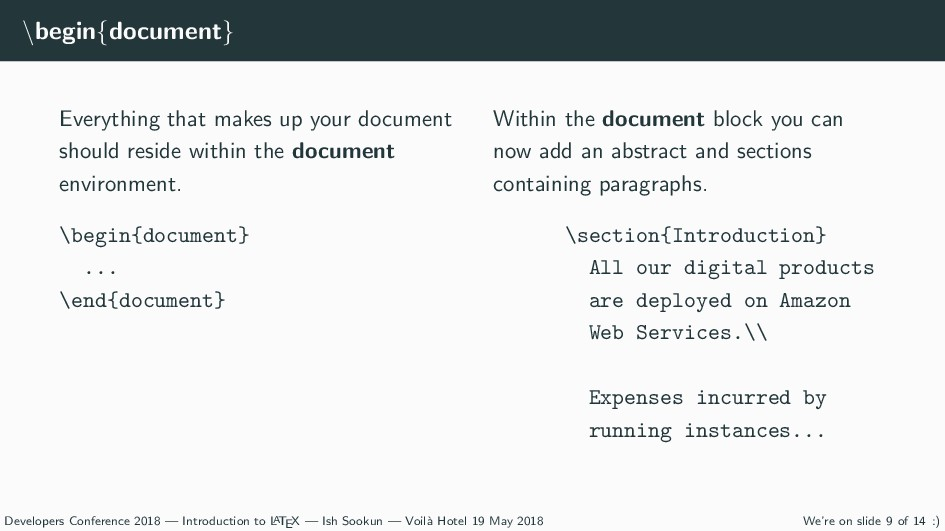 \begin{document} Everything that makes up your ...