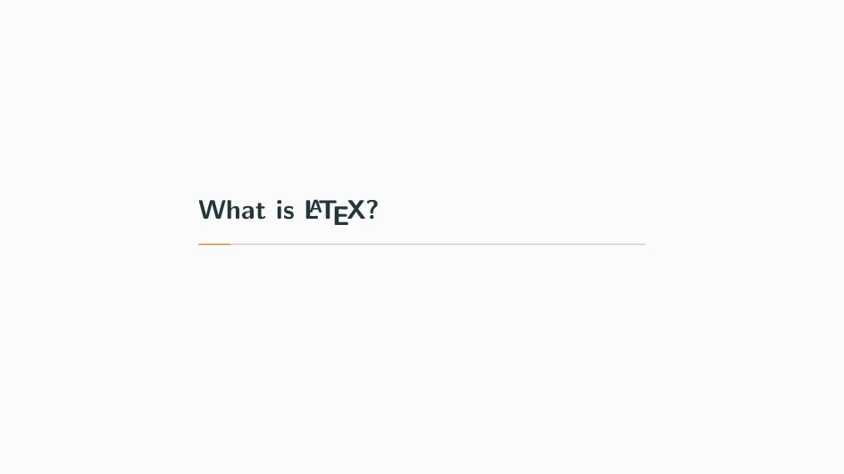 What is L A TEX?