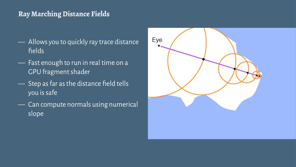 Ray Marching Distance Fields — Allows you to qu...