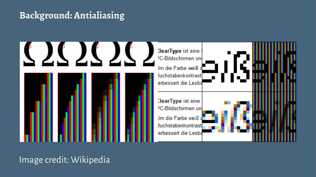 Background: Antialiasing Image credit: Wikipedia