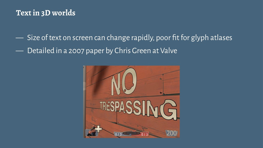 Text in 3D worlds — Size of text on screen can ...