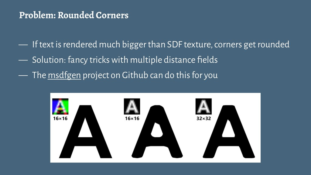Problem: Rounded Corners — If text is rendered ...