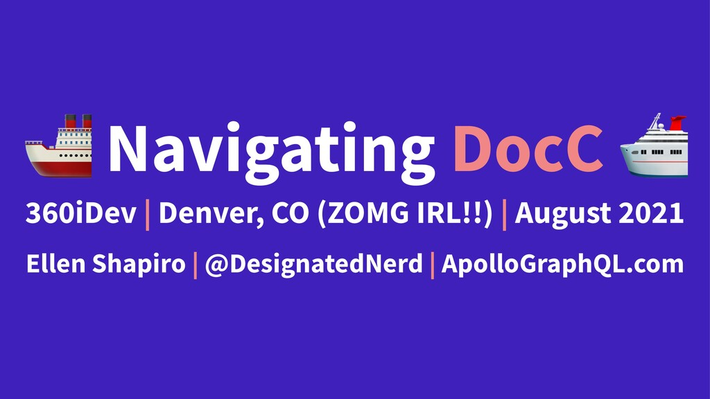 ! Navigating DocC 360iDev | Denver, CO (ZOMG IR...