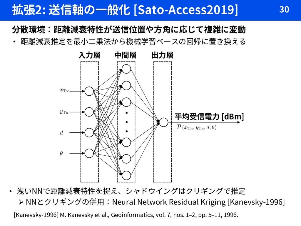 拡張2: 送信軸の一般化 [Sato-Access2019] 30 分散環境:距離減衰特性が送...