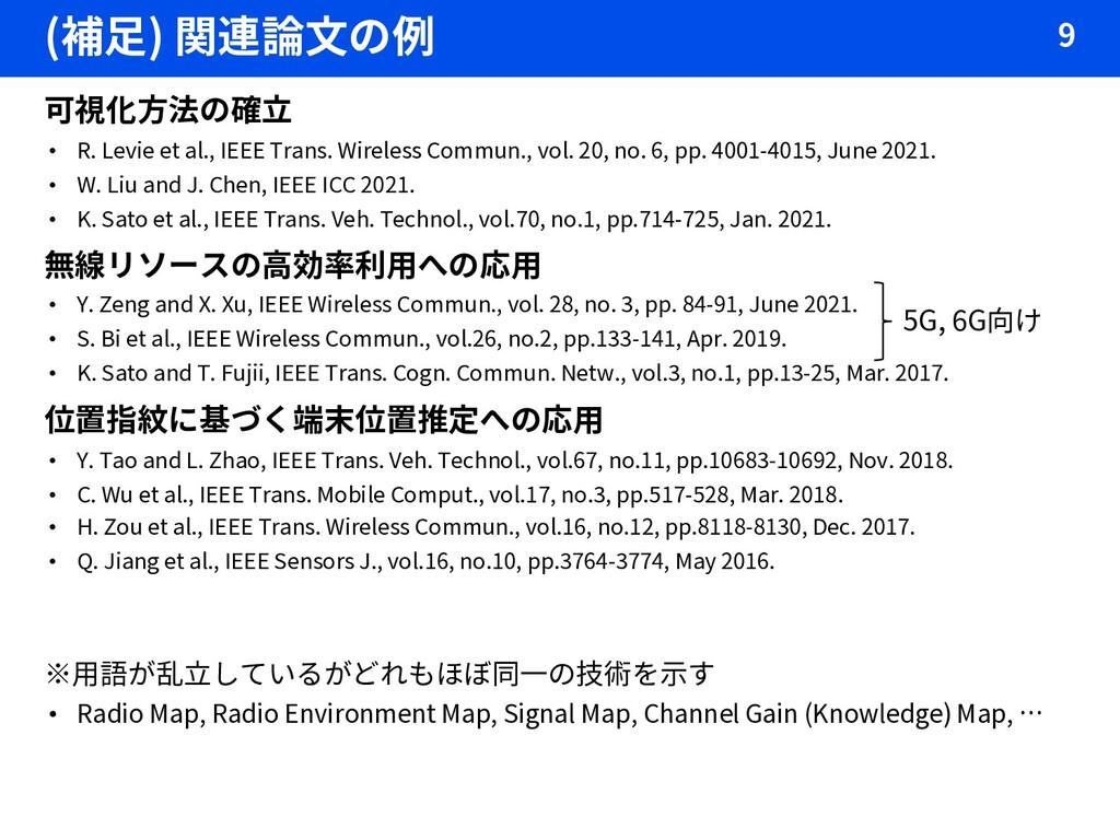(補足) 関連論文の例 9 可視化方法の確立 • R. Levie et al., IEEE ...