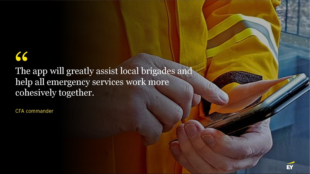 CFA commander The app will greatly assist local...