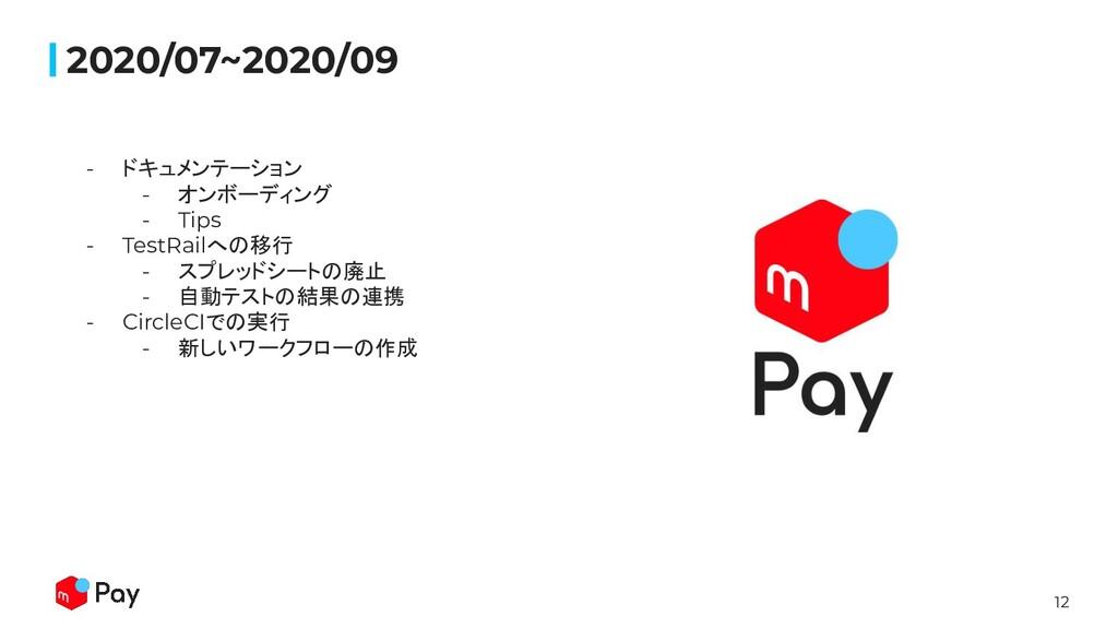 12 2020/07~2020/09 - ドキュメンテーション - オンボーディング - Ti...