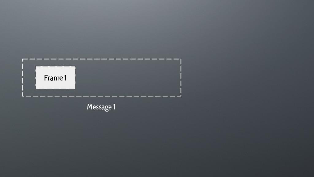 Frame 1 Message 1