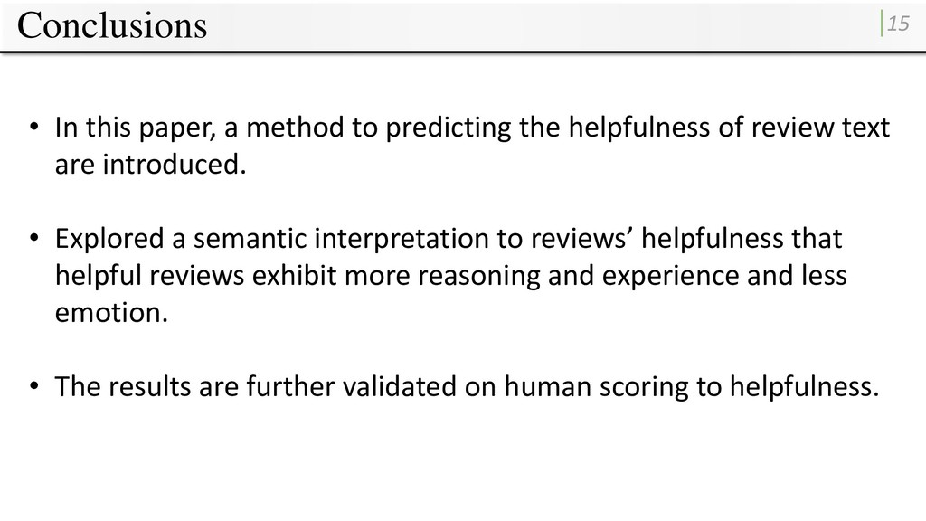 Conclusions 15 • In this paper, a method to pre...