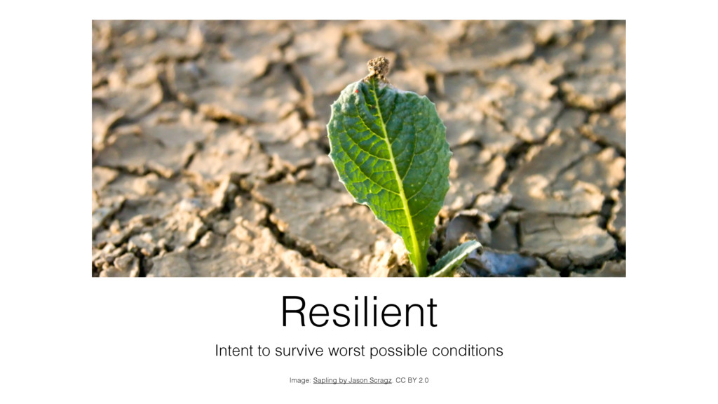 Resilient Intent to survive worst possible cond...