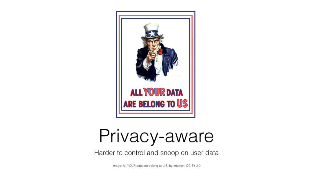 Privacy-aware Harder to control and snoop on us...