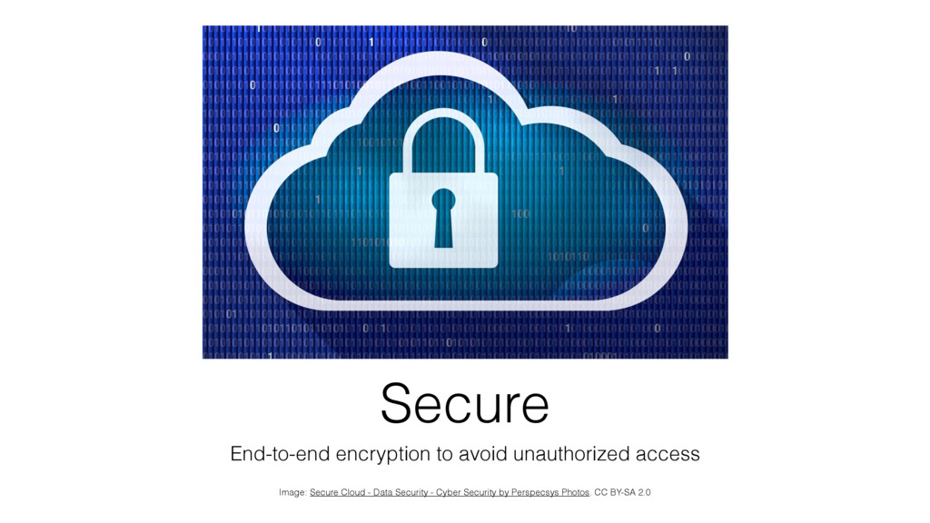 Secure End-to-end encryption to avoid unauthori...