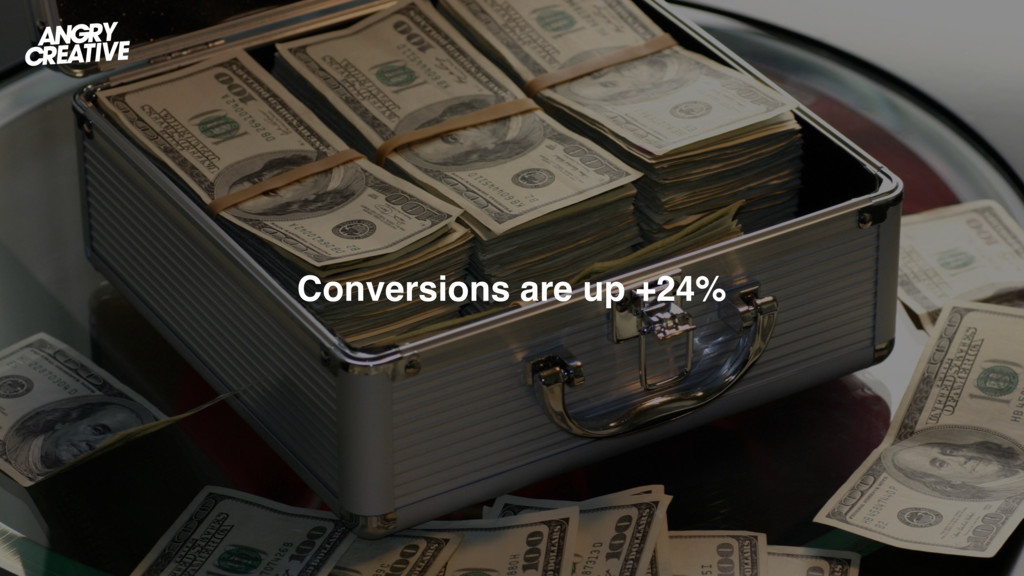 Conversions are up +24%